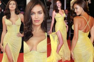 Irina Shayk chwali się ciałem po ciąży na czerwonym dywanie w Cannes! (ZDJĘCIA)