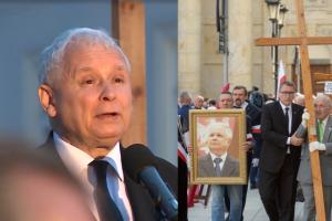 """Kaczyński na miesięcznicy smoleńskiej: """"Próbują odebrać nam prawa obywatelskie, prawa katolikom i kościołowi. Zwyciężymy!"""""""