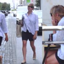 Smutna Marta Wierzbicka na mieście