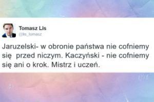 """Lis o Jaruzelskim i Kaczyńskim: """"Mistrz i uczeń"""""""