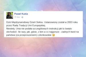 Paweł Kukiz podsumował Międzynarodowy Dzień Seksu