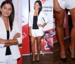 Opalone nogi Lewandowskiej w białych szortach (ZDJĘCIA)