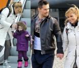 Skrzynecka z mężem i córką wychodzą z TVP (ZDJĘCIA)