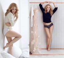 Kylie Minogue reklamuje bieliznę