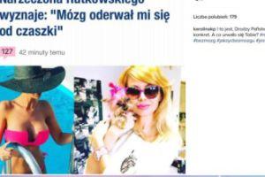 Korwin Piotrowska o wyznaniu narzeczonej Rutkowskiego