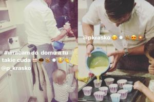 Piotr Kraśko przyłapany w kuchni (FOTO)