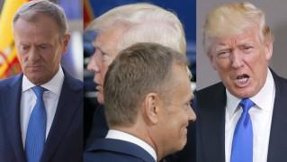 Spotkanie Donaldów w Brukseli: Trump poklepuje Tuska po plecach (ZDJĘCIA)