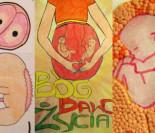 """Płody i księża na rysunkach dzieci! W podstawówkach zorganizowano """"KONKURS ANTYABORCYJNY""""! (ZDJĘCIA)"""