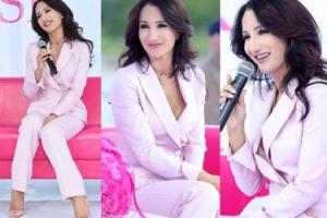 Steczkowska w różowym garniturze przypomina o profilaktyce raka piersi (ZDJĘCIA)