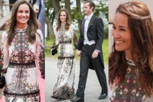Elegancka Pippa Middleton z mężem na weselu w Sztokholmie (ZDJĘCIA)