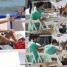 Mąż karmi znudzoną Siwiec na plaży w Sopocie... (ZDJĘCIA)