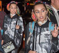 Miley z kolorowymi doczepionymi dredami!