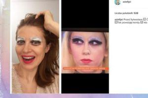 Ada Fijał ćwiczy makijaż na Sylwestra