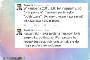 """Tomasz Lis: """"W 2010 Kaczyński był normalny, bo brał proszki"""""""