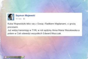 Majewski wyśmiewa konflikt Majdana z Wojewódzkim