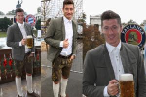 Lewandowski świętuje Oktoberfest. Tym razem bez Ani (ZDJĘCIA)