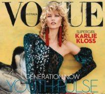 Karlie Kloss z kręconymi włosami na okładce