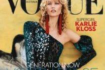 "Karlie Kloss z kręconymi włosami na okładce ""Vogue'a"""