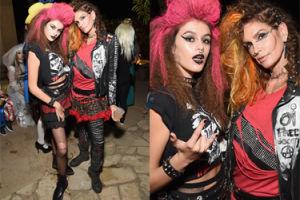 """50-letnia Cindy Crawford z córką przebrane za """"punkówy"""" (ZDJĘCIA)"""