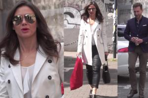 Elegancki Kraśko i Rusin w lateksowych spodniach pod TVN-em