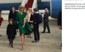 Ivanka Trump w drodze na inaugurację Donalda Trumpa
