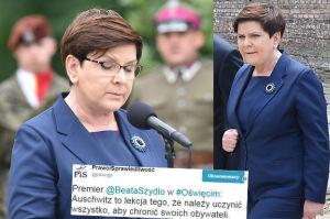 """Słowa premier Szydło w Auschwitz wywołały burzę w mediach! """"To jedna WIELKA GAFA"""", """"Rekord głupoty i cynizmu"""""""