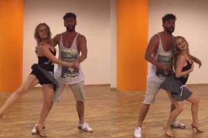 """Olga Kalicka i Maserak trenują lambadę do """"Tańca z gwiazdami!"""""""