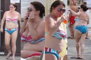 Kasia Niezgoda w bikini opala się na plaży (ZDJĘCIA)