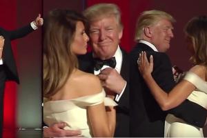 Pierwszy taniec prezydenta Donalda Trumpa i Melanii Trump