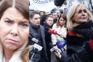 Lis, Olejnik i Kolenda-Zaleska protestują pod Sejmem (ZDJĘCIA)