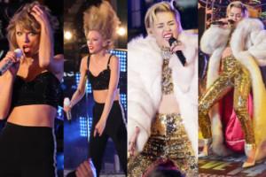 Taylor Swift i Miley Cyrus  witają Nowy Rok w Nowym Jorku (ZDJĘCIA)