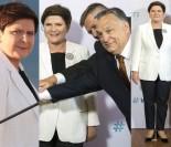 Szczęśliwa Beata Szydło pozuje z Victorem Orbanem (ZDJĘCIA)