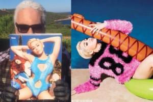 """Kolorowa i """"niegrzeczna"""" Miley w obiektywie Lagerfelda!"""