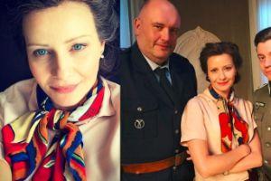 Małgorzata Kożuchowska w czarnych włosach promuje nową produkcję TVP