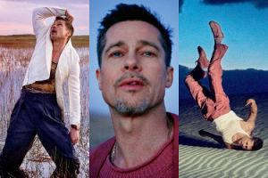 Brad Pitt turla się po pustyni, klęczy na łące i... podziwia stalaktyty (ZDJĘCIA)