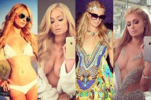 Paris Hilton dorysowuje sobie piersi... (ZDJĘCIA)