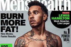 Lewis Hamilton pokazuje mięśnie na okładce