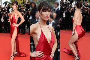 Prawie naga Bella Hadid w Cannes! (ZDJĘCIA)