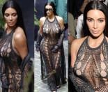 Kim Kardashian w sukience z dziurami w Paryżu! (ZDJĘCIA)