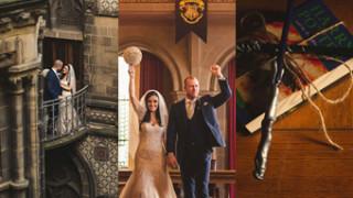 Tak wyglądał ślub największych fanów Harry'ego Pottera (ZDJĘCIA)