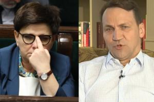 """Sikorski krytykuje Szydło: """"Prowadzi do izolacji Polski. Takie nacjonalistyczne wypowiedzi o imigrantach nie uchodzą poważnemu politykowi!"""""""
