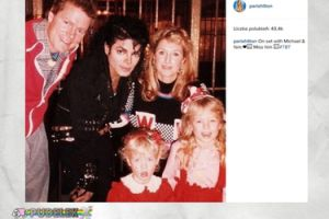 Młoda Paris Hilton na fotce z Jacksonem