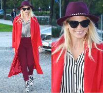 #TRENDY: Maria Sadowska w czerwonym płaszczu
