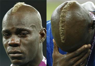 Balotelli PŁACZE po przegranej z Hiszpanią! (ZDJĘCIA)