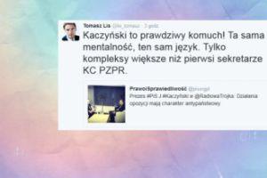 """Lis: """"Kaczyński to prawdziwy komuch"""""""