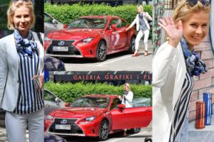 """Edyta Pazura pod """"Dzień Dobry TVN"""": od PKP do czerwonego Lexusa (ZDJĘCIA)"""