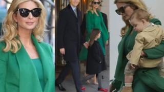 Ivanka Trump z mężem i dziećmi w drodze na inaugurację (ZDJĘCIA)