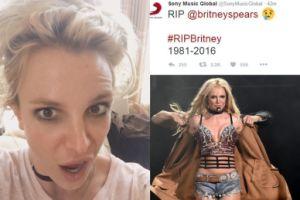 Hakerzy włamali się na Twittera Sony i ogłosili... śmierć Britney Spears!