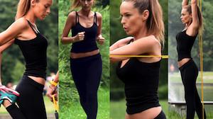 """Kasia """"3000"""" Sowińska naciąga gumę w parku (ZDJĘCIA)"""