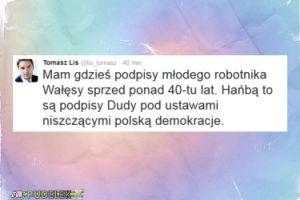 """Tomasz Lis: """"Mam gdzieś podpisy Wałęsy sprzed 40 lat!"""""""